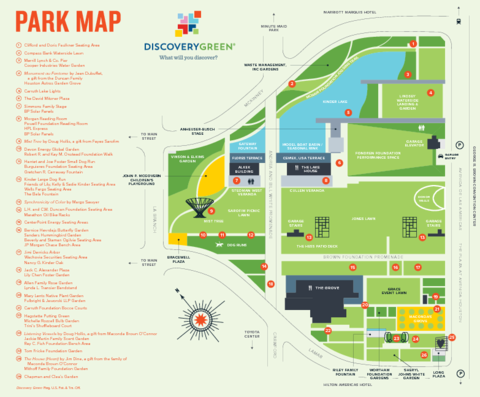 Map Of Texas 99.Discovery Green Park Map Discovery Green Houston Texas