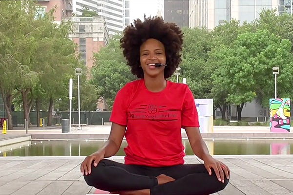 Online Hip Hop Yoga, sponsored by Sprouts