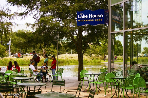 To Find The Lake House And Grove On Discovery Green Park Map Click Here Share